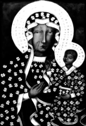 Our Lady of Czestochowa  BW.jpg